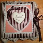 Vtg Homemade Lace Precious Moments Photo Album 19 Pages Keepsake