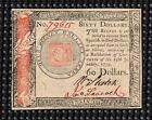 RARE/PRETTY CHOICE UNCIRCULATED 1779 US CONTINENTAL 60 DOLLAR Note (RED//BLACK)