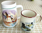 MALLARD Hand Painted(Brazilian)Heavy Ceramic Beer Mug+Tufted DUCK Coffee Cup LOT