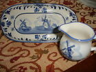 Vintage Delftware Dish & Small Pitcher