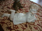Vintage Bisque Piano Baby holding a Bag of Oranges Germany Heubach inspired