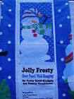 Fabric 36 x 58 inch Panel Jolly Frosty Snowman Door Wall Hanging Lap Quilt