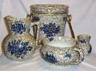Antique Chamber Set Rorstrand Pitcher Brush Holder Chamber Pot & Pail With Lid