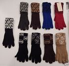 MICHAEL KORS WOMENS GLOVES BLACK BROWN GRAY BLUE OR TAN SIGNATURE LOGO MSRP 42