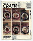 McCall's 3881 Heart & Sole Seasonal Wreaths Pattern  Uncut