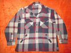 Mens VTG Woolrich Plaid wool Shirt/Jacket size L