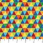 Stonehenge Kids Triangles Quilt Fabric 1 2 yard Rainbow Trianlges remnant 8