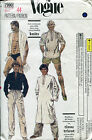 Vogue 7990 Stylish 70's Men's SWIMSUIT PANTS SHORT CAFTAN & TOP Pattern sz 44 UC