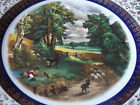 ASCOT SERVICE PLATE ENGLAND WOOD & SONS ALPINE WHITE SHEPHERD BOY COUNTRYSIDE