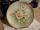 Vintage Hand Painted Lefton Decorator Plate W/Hanger & Plate Rack - Estate