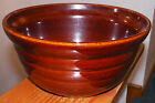 Vintage Monmouth, Ill USA Brown Large Bowl Maple Leaf Ringware Tiered