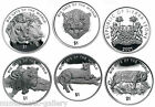 SIERRA-LEONE $5 COIN SET 2001 BIG CATS OF THE WORLD