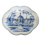 Colonial Williamsburg Garden Scape Blue Toile Tray 13