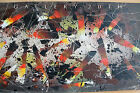 ORIGINAL STARECK ABSTRACT OIL PAINTING! MID CENTURY MODERN Vtg Art 50s Eames