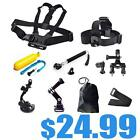 9in1 Head Chest Mount Suction Seatpost Monopod For GoPro 3 3+ Camera Accessories