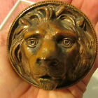 Antique Heavy Brass Lion Head Door Knob