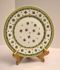 Raynaud Limoges Bougainville Salad Plate Green Porcelain France 7 1/2
