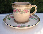 CUP SAUCER JOHN MADDOCK & SONS LTD. ROYAL VITREOUS ENGLAND FLORAL ANTIQUE CHINA