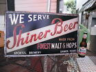 SHINER BEER SOLD HERE BOTTLE TIN SIGN BREWERY