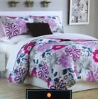 Cynthia Rowley Twin Extra Long Comforter Set College Dorm Bedding Floral Purple