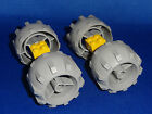 LEGO Vehicle Build a Tank Car Truck Gray Wheels with Yellow Connectors