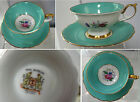 BEAUTIFUL, VINTAGE ROYAL BAYREUTH  CUP AND SAUCER DRESDEN FLOWERS GERMANY