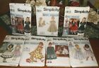 7 Vintage Simplicity Daisy Kingdom Girls & Doll Dresses Sewing Patterns - 3 FF