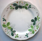 RARE Antique French Majolica plate George SAND Strawberry, Creil Montereau 1850