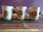 3 Fine Bone China Coffee Mugs Summer Flowers Collection Formalities Baum Bros