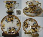 BEAUTIFUL  NAPCO HAND PAINTED, VINTAGE  CUP AND  SAUCER,YELLOW ROSES, JAPAN