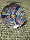 Vintage IMARI WARE, JAPAN, small decorative hand signed plate with stand 4-1/2