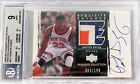 2003-04 Patrick Ewing Upper Deck Exquisite Game Used 3 Clr Patch Auto 100 BGS 9