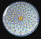Deruta ITALIAN  pottery GEOMETRICO PEACOCK FEATHERS  LARGE PLATTER 14