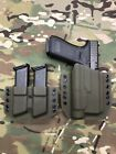 OD Green Kydex Light Holster Glock 17 22 31 Streamlight TLR 1 w Mag Carrier
