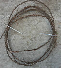 Crandall Zigzag Rusty Barbed Wire about 18 feet Vintage Rustic Country barb