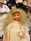 Beautiful Wax Over Porcelain Angel Doll 28