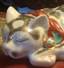 c1920 Vintage Ceramic/Porcelain Hotta Yu Shoten & Co. Hand Painted Sleeping Cat