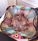 Vintage Sierndorf Austria Decorative Bowl w/ Beautiful Coloured Glaze & Daisies