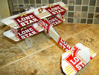 TEXAS Red Lone Star BEER Plane AIRPLANE Made from REAL Beer can Neon Sign Cool