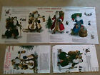 Olde Father Christmas Appliques Fabric Sewing Material ~ LOT 4