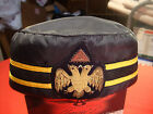 Vintage 32nd Degree Scottish Rite-Templar- Masonic Hat  - Size 7 1/8