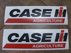 Pair CASE IH AGRICULTURE Tractor vinyl decals 11 x 3 Each Red