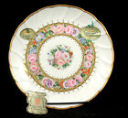 Vintage Limoges Porcelain Plate With Tags, Hand Painted 22K gold paint Gorgeous!