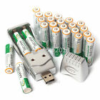 24 PCS AAA 1350mAh 1.2 V Ni-MH BTY Rechargeable Battery + AA AAA BTY USB Charger