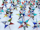 Lot of 25  FIESTA COLOR Handmade Stained Glass Moravian STARS MULTI COLOR