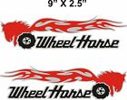 Pair WHEEL HORSE FLAMING tractor vinyl decals 9 x 25 EACH