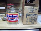 PLANTERS PEANUTS VINTAGE GLASS - STORE COUNTER DISPLAY JAR - WITH ORIGINAL BOX!