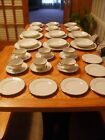 Silver Sonata 6 piece place settings complete set and 1 serving dish