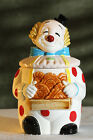 VINTAGE Cute MID CENTURY Clown Kitchen COOKIE Collector's Treat JAR