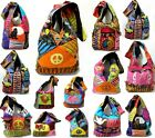 Shoulder Bag Hippie Flowers Elephant Patchwork Tie Dye Ripped Backpack